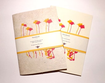 Notebooks- Wildflower Toadflax | Handmade | Eco Friendly | Pocket Size
