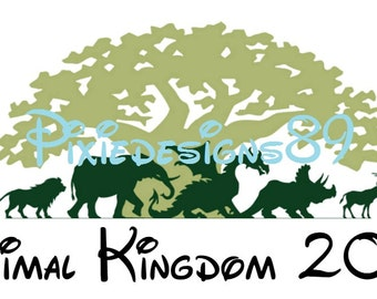 Disney Animal Kingdom - 'Animal Kingdom 2017' - INSTANT DOWNLOAD Iron On T-Shirt Transfer Image