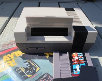 Vintage Nintendo NES Game System, Console/Control Deck, Controllers, and Games Original Box USED