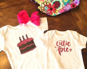 Baby Girl Birthday Onesie/ Baby Shower Gift/Photo Shoot