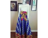 New Ankara Maxi Skirt| Ankara Print ADARA MAXI SKIRT with Pockets | Women's Maxi Skirt | Kitenge Maxi Skirt
