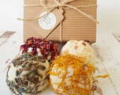 Gift Set Bath Truffles, Hand Rolled Truffles, Gift Box Bath Melts, Mother's Day, Thank You Gift,