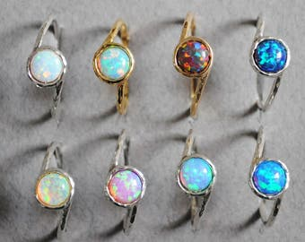 Fire Opal Rings. Opal ring. dainty stack jewelry. White Opal Ring Silver. stack Opal ring. Gold opal ring. Promise ring opal. ring for women