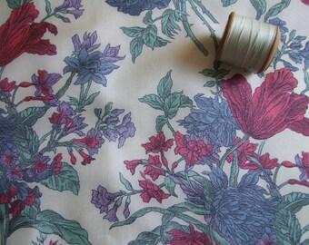Liberty, silk, Liberty of London, Liberty silk, floral silk fabric, dressmaking fabric,