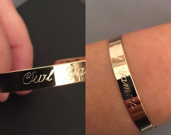 Engraved Gold Bracelet,  personalized bracelet, engraved bangle, custom engraved bracelet, Custom cuff bracelet, engraved jewelry, monogram