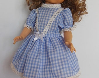 "Blue Gingham Dress Set for 14"" P90 Ideal Betsy McCall Dolls"