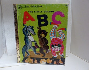 The Little Golden ABC Hardcover Vintage A Little Golden Book, illustrated by Cornelius De Witt, 1976