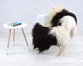 Luxury genuine Icelandic sheepskin rug natural color single 130cm x 85cm, G548