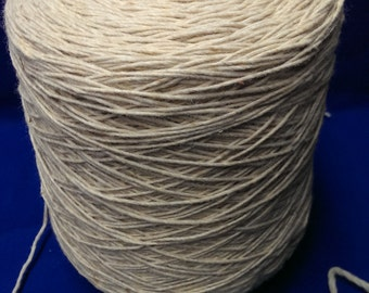 1 spool 2 kgs  wool  yarn  rawwhite nm 1  hand knitting yarn on a cone