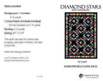 Diamond Stars - Quilting Pattern