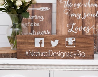 Wood Hashtag Sign- Hashtag Wedding Sign- Wedding Photo Prop- Wedding Sign- Wood Wedding Sign- Rustic Wedding Sign- Photo Booth Sign- Hashtag