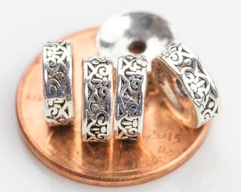 Beads 925 Bali Sterling silver 2 per order-s6