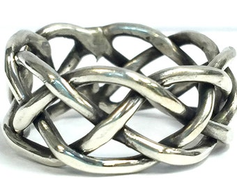 Sterling Silver Twisted Rope Fashion Ring