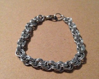 spiral weave chainmaille bracelet