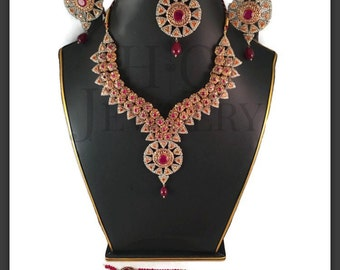 EXTRAVAGANT VICTORIAN FULL  bridal set Pakistani / Indian Jewelry