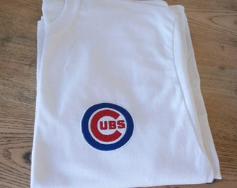 chicago cubs shirt, Chicago Cubs logo tshirt,Chicago Cubs embroidery design