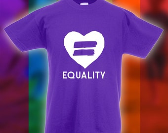 Equality Heart Shirt - Equal Rights Shirt, Gay Pride,Equal Rights Protest, Womens Rights, Gay Marriage,Anti Trump Rally, Bodysuit CT-828