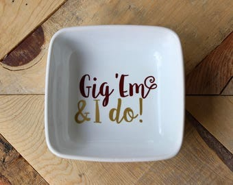 Aggie Ring Dish // Aggie Wedding Gifts // Graduation Gift // Ring Day Gift // Texas A&M Ring Dish