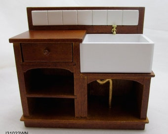 1:12 scale miniature dollhouse kitchen sink JBM J31022wn