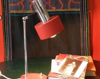 Lampe rouge vintage années 60