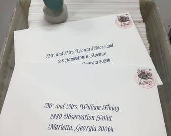Calligraphy Machine Addressing of Wedding Invitations