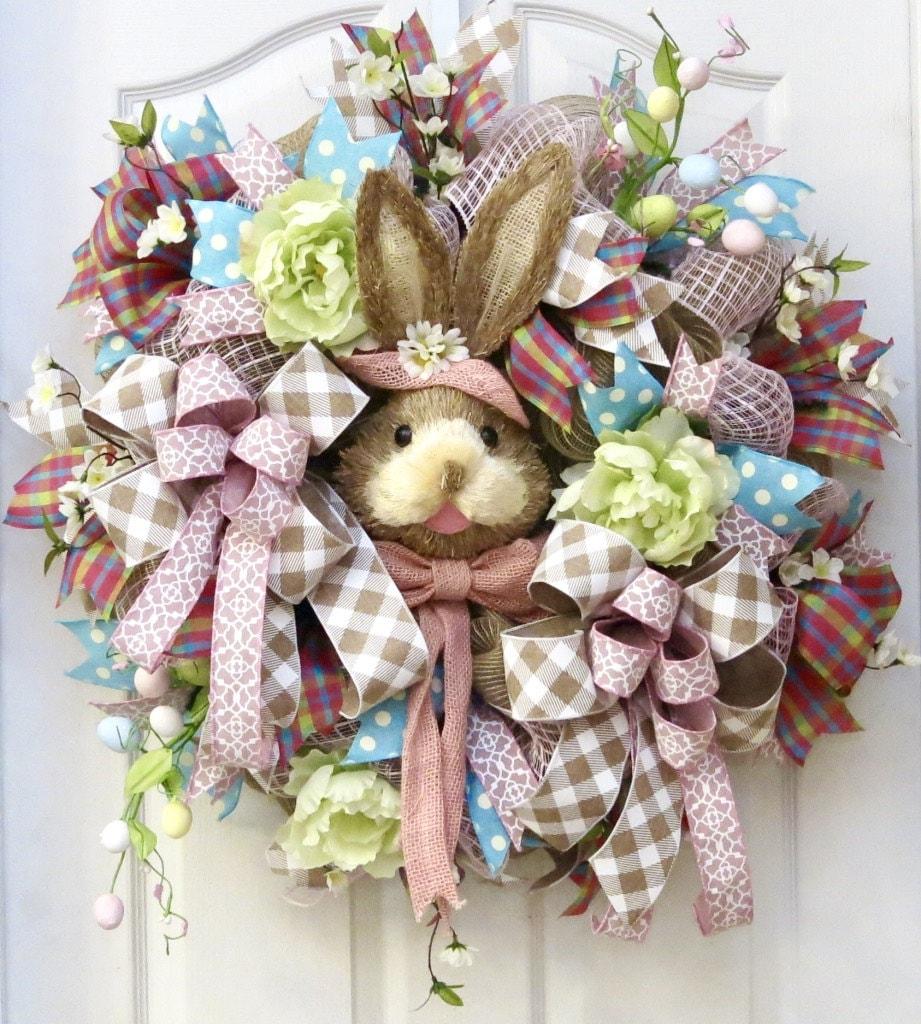 Easter Wreaths For Front Door Easter Wreath Bunny Wreath
