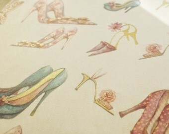 High Heels Fever - Wrapping Paper/Gold Embossed/Sheet Style/Cute/Pretty/Unique/Kawaii/Holiday/Fancy/Wedding/Gift Wrap/Fun/Elegant/Occasion