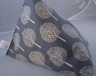 iPad Beanie / Book Stand / e Reader Pillow / Tablet Cushion - Grey with Cream Trees