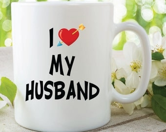 Gift For Husband On Wedding Day Etsy : love my husband ceramic mug gift for wife husband wedding gift ...