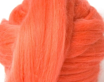 Merino Wool Combed Top/Roving by the Ounce or by the Pound - Salmon