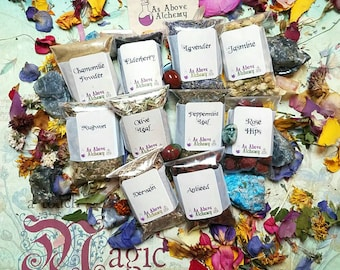 DIY Sleep and Dreams Set of Herbs - DIY Incense, Potion, Spell - Herbs & Resins - You Choose Number - Witchcraft Supplies