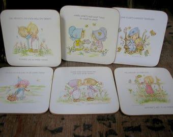 Betsey Clark Coasters, Betsey Clark Mats, Betsey Clark Table Mats, Betsey Clark Place Mats, Vintage, 1970s Betsey Clark, Hallmark Cards