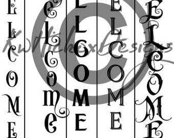 Vertical Sign Svg, Vertical Bundle Svg, Welcome Sign Svg, Dxf For Silhouette Cameo, Cricut Download