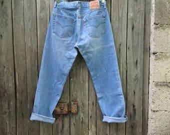 Levi's Jeans/ Vintage/ 90s/ high waist/ size W 31/ L 30/ model 501/ denim 100% cotton