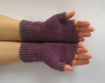 Wool Arm Warmers, Winter Women's Hand Warmers, Hand Knit, Hand Knitted Gloves, Fingerless Mittens, Wool Wrist Warmers, Woman's Mittens