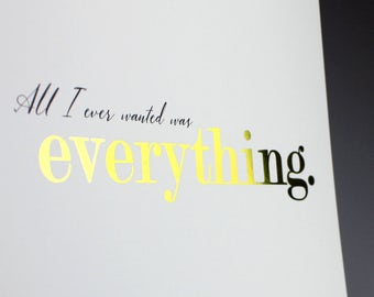 GOLD foil printing EVERYTHING