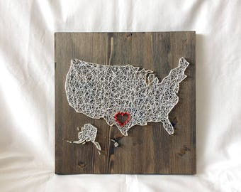 United States Map String Art Wall Art Decor Chaotic