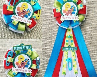 Sesame Street Inspired Baby Shower Corsage