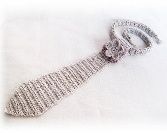 Tie Women Accessory, Valentine's gift, Tie Necklace, Women's Jewelry, Teen Tie, White Tie, gift for hre, Girl tie gifts, Crochet tie