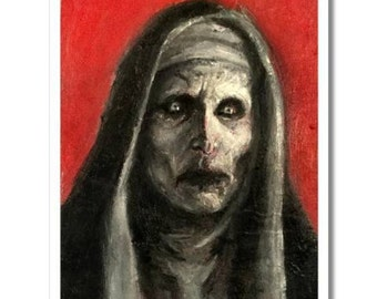 VALAK 5x7 art print horror dark art surreal lowbrow the conjuring OOAK