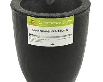 A20 - 30 Kg Salamander Super Clay Graphite Crucible for Precious Metal Melting Casting Gold Brass Silver Refining - CRU-0100