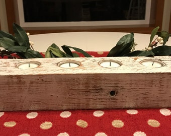 Rustic Pallet 4 Candle Holder