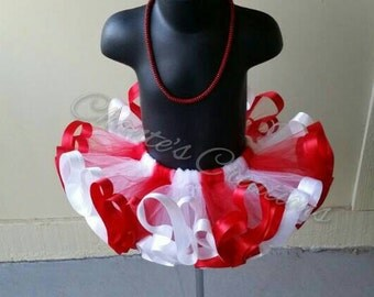 Candy cane, red and white tutu ONLY
