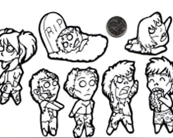 Color Your Own Zombie Stickers