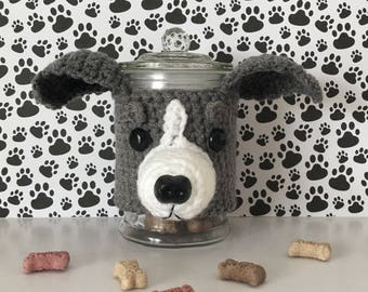Miniature Greyhound - Italian Grey Hound - Greyhound Rescue - Crazy Dog Lady - Greyhound Puppy - Dog Treat Jar - Funny Greyhound