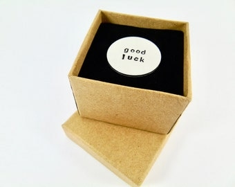 Hand Stamped Lucky Lotto Lottery Scratch Card Scratcher Gift for Grandma Gift for Grandad Lucky Token