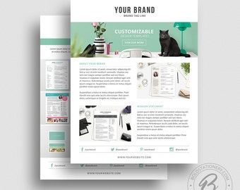 Product Media Kit Template 07 - Press Kit - Pitch kit - Product Price Sheet Template