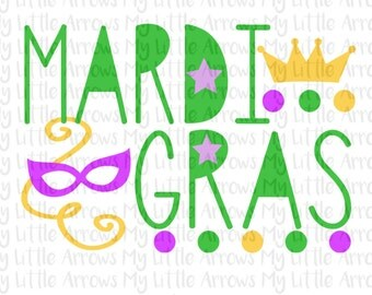 Mardi gras svg - cute mardi gras svg - SVG, DXF, EPS, png Files for Cutting Machines Cameo or ...