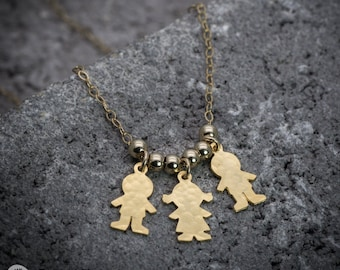 Mothers necklace, Boy & girl necklace, mom necklace, mother's day gift, family necklace, mother necklace, mommy necklace, dainty necklace.