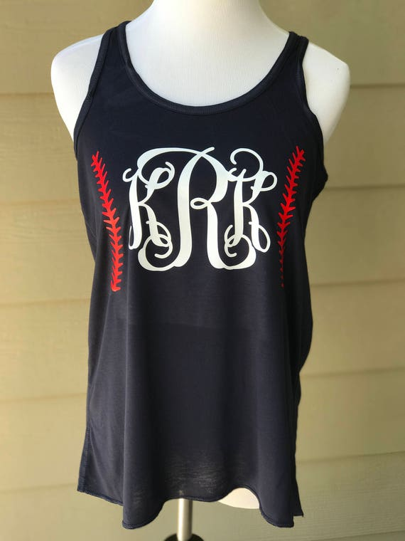 Baseball Monogram Racer-back Tank - Pick Your Color